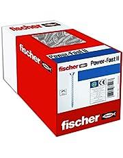 fischer 100 x spaanplaatschroef Power-Fast II 5,0X70, Pan Head met kruiskop volledige schroefdraad galvanisch verzinkt, blauw gepassiveerd (art.-nr. 670449)