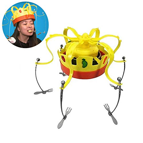 YQST Chow Crown Game Musical Spinning Crown Snacks Food Party Family Game Toy for Children
