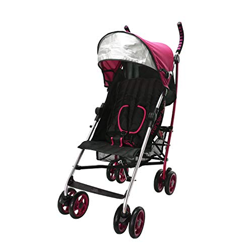 Wonder buggy Baby Stroller Lightweight All Town Rider Four Position Stroller with Sun Visor (Pink)