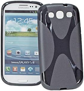 Funda de TPU Negra para Samsung Galaxy S3 I9300 SIII Antideslizante: Amazon.es: Electrónica