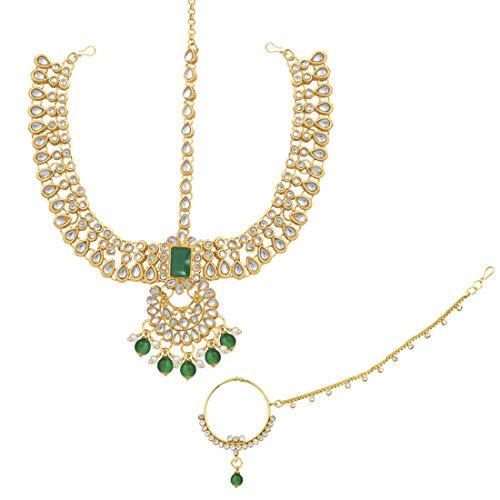 953f80ff879e8 Aheli Traditional Wedding Indian Bridal Jewelry Set Long Choker ...
