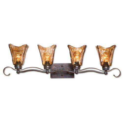 Uttermost 22845 Vetraio 4 -Light Vanity Strip, Oil Rubbed Bronze Finish Bronze Four Light Vanity Strip