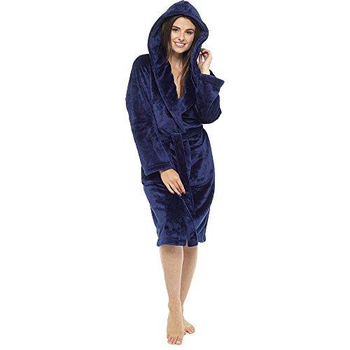 Basic Vestaglia It donna Hooded Navy Style Up zqtp0