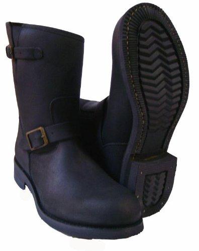Engineer Outdoor Schaftstiefel 24 cm Kurz Stiefel Leder Schwarz Braun 36-47 Schwarz