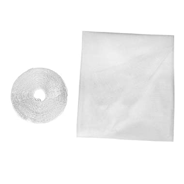 Insect Fly Mosquito DIY Door Net Netting Mesh Screen White