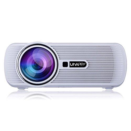 LED HD Micro Home Theater Projector ,Tuscom U80 1000lumens 1080P Multimedia Mini Portable HD Projector (White) by Tuscom (Image #1)