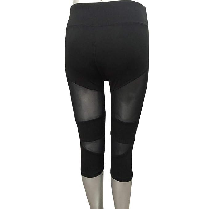 UROSA Women Fashion Patchwork Fitness Capri Yoga Pants ...