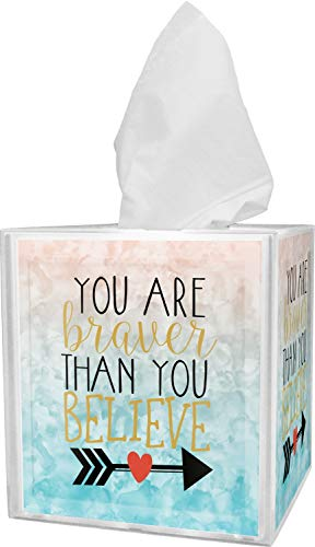 - RNK Shops Inspirational Quotes Tissue Box Cover (Personalized)