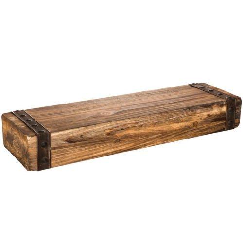 24-inch Lightweight Wall Shelf Floating Wall Mount Shelf Rustic Fireplace Wood Mantel (Mantel Metal Shelf Fireplace)