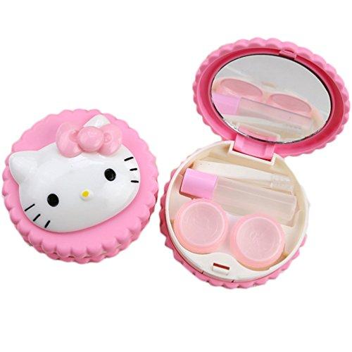 Cute Cartoon Pink Hello Kitty Contact Lens Case/ Contact Lens Box/lenses Care Box