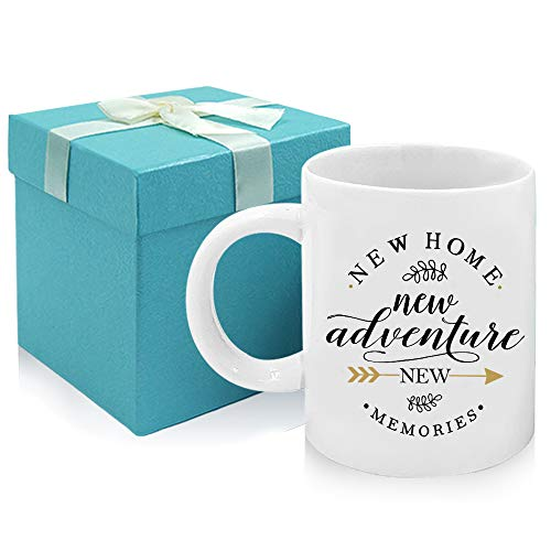 Tom Boy Housewarming Gifts For New Home Owner House Warming Presents For Friends And Couple New Adventure New Memories Coffee Mug 11oz