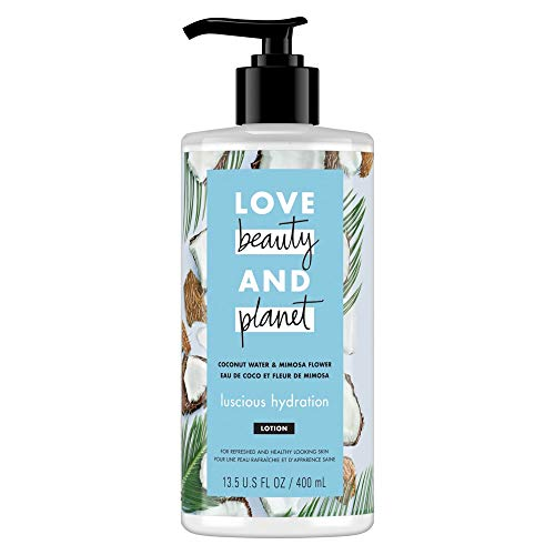 Love Beauty And Planet Luscious Hydration Body Lotion Coconut Water and Mimosa Flower 13.5 oz (Best All Natural Beauty Products)