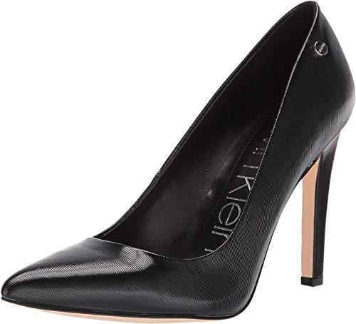 (Calvin Klein Women's Brady Black Liquid Patent Smooth 7 M US)