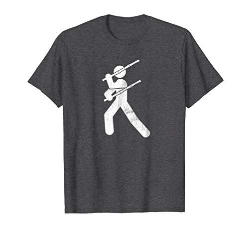 Mens Filipino Martial Art - Eskrima Kali Arnis Stick Man T-Shirt XL Dark Heather from Eskrimador Stickman Martial Arts Shirts