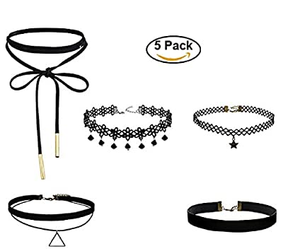 New Choker Necklace Set Stretch Velvet Gothic Tattoo Lace Designs for Ladies Fashion accesories Jewelry