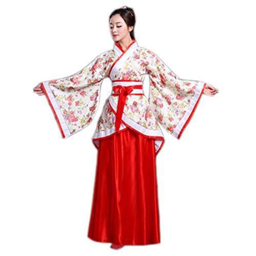 Straight Jacket Costume For Women (Ez-sofei Women's/Girls Ancient Chinese Traditional Costumes Hanfu (XL, F-Red))