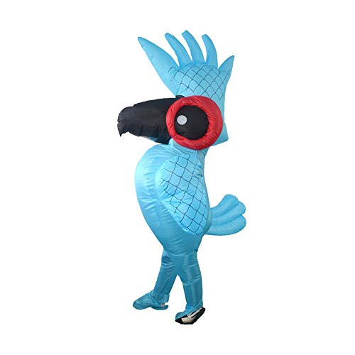 Inflatable Costume, Unisex Adult Halloween Dress Party Suit, Parrot -