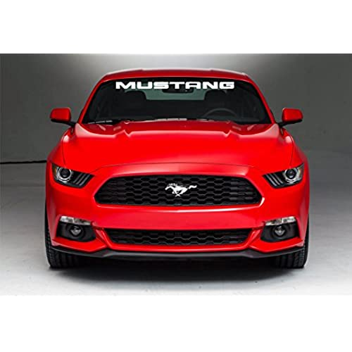 Ford mustang windshield sticker vinyl decal white 3x39 5 0 4 6 cobra shelby fox gt lx mustang stripes mustang stickers mustang decals