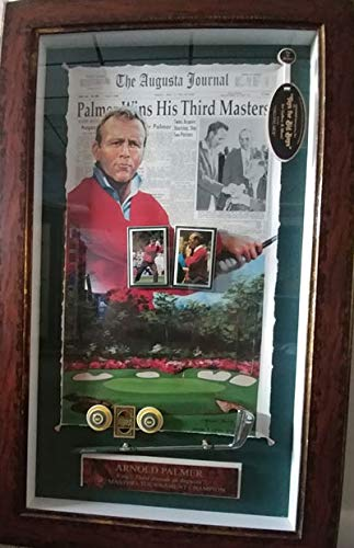Golf History Shadow Box - Encore Palmer wins his 3rd Masters Title! Shadowbox History Frame