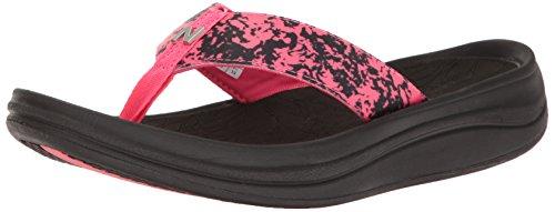 New Balance Women's Revive Sport Thong Sandal, Black/Pink, 8 B (Ladies Womens Sport Thong Sandals)