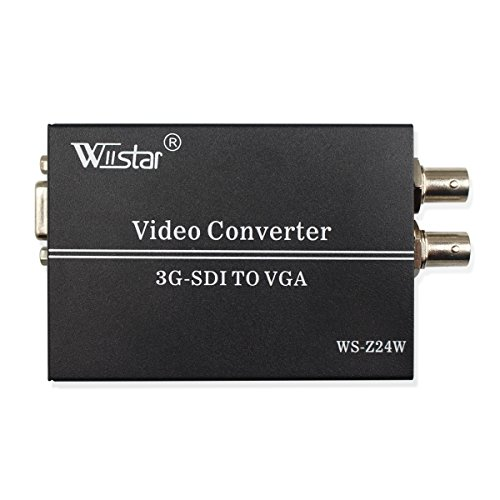 Vga Hd Sdi (Wiistar SDI to VGA Audio Converter Support 1080P for VGA SDI Monitor)