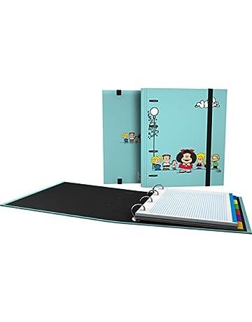 Grafoplás 88101947-Carpeta de anillas troqueladas A4, Diseño Mafalda Amigos, con sobre transparente