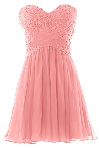 Zartrosa Strapless Chiffon Gown Dress Party Women Cocktail Formal Mini Lace MACloth Prom 4PwOxC5qw