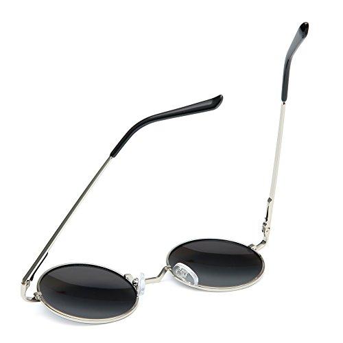 7328348be4 Joopin-Round Retro Polaroid Sunglasses Driving Polarized Sun Glasses Men  Steampunk Vintage (Ice Blue
