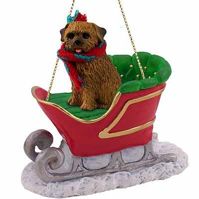 (Conversation Concepts Norfolk Terrier Sleigh Ride Ornament)