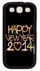 2014 Happy New Year Light Painting Bokeh PC For For HTC One M9 Phone Case Cover Black Kimberly Kurzendoerfer
