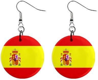 Juego de pendientes de la bandera de España: Amazon.es: Hogar