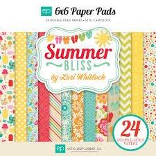 Echo Park 6 x 6 Paper Pad, Summer Bliss