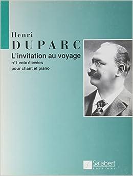 Invitation au voyage n 1 chant amazon henri duparc books stopboris Image collections