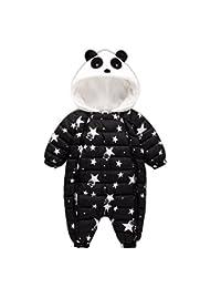 Warm Unisex Baby Hooded Puffer Jacket Jumpsuit Winter Warm Snowsuit Romper