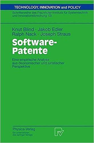Book Software-Patente: Eine Empirische Analyse Aus Ökonomischer Und Juristischer Perspektive (Technik, Wirtschaft und Politik)