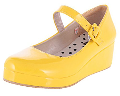 Jaune Jaune HiTime Plateforme Sandales 36 5 Femme Axxq7wa