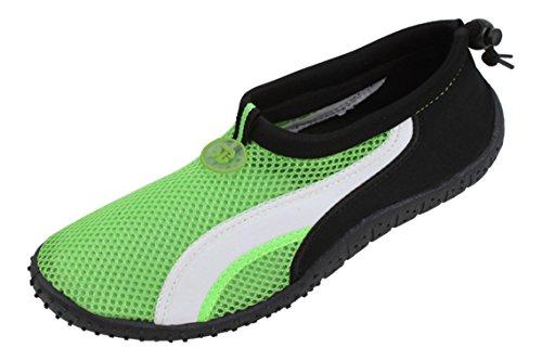 New Starbay Marque Mens Noir Chaussures Deau Athlétiques Aqua Chaussettes Avec Strie Blanc Taille Vert
