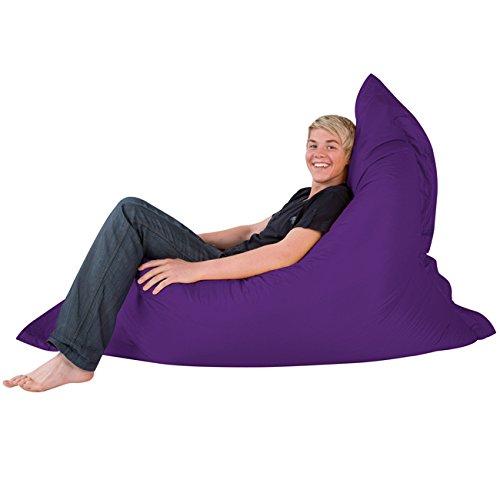 Swell Bean Bag Bazaar Giant 4 Way Floor Cushion Purple 180Cm X 140Cm Water Resistant Outdoor Beanbag Creativecarmelina Interior Chair Design Creativecarmelinacom