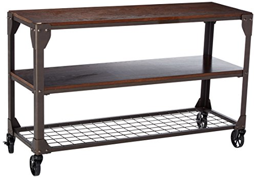 247SHOPATHOME IDF-4111S, Sofa Table, Walnut