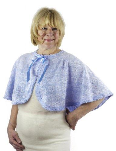 Para mujer capa de cama, Classic térmica, BRITITSH fabricado por Lux Lux Azul