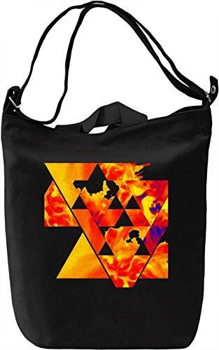 Red Triangle Borsa Giornaliera Canvas Canvas Day Bag| 100% Premium Cotton Canvas| DTG Printing|