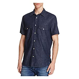 7 For All Mankind Denim Regular Fit Button-Down Shirt Medium
