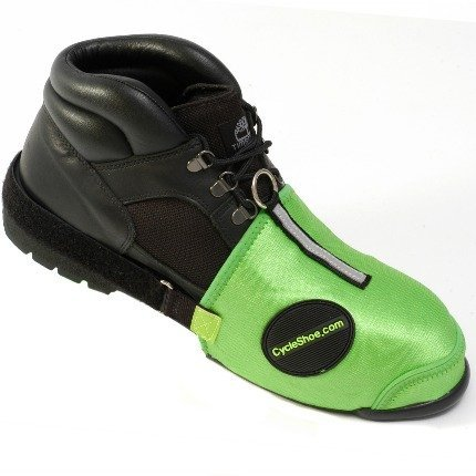 Cycle Shoe #BS-GRN Protects Boot Shoe Sneaker from Motorcycle Shifter Peg Scuffing & Wear Tear Damage
