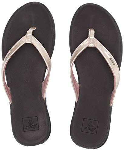 Reef Women's Rover Catch Flip Flop, Champagne, - Reef Womens Ginger