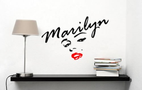SEXY Marilyn Marilyn Monroe Face Red Lips 14