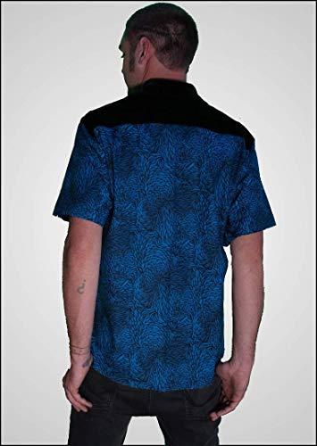 Blue Velvet - Men's Casual Button Down Shirt ()