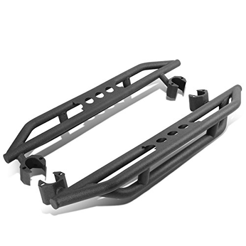 For Jeep Wrangler JK 2-Door Pair of Rock Crawler Side Step Armor Bar Running Board - Sport 2dr Step
