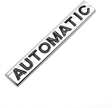 Black Chrome 1PCS 3D Metal AUTOMATIC Logo Emblem Tailgate Side Sticker Badge Decals Replacement For Universal Cars