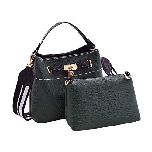 Verde hombro Mujer de Carteras Shoppers y y mano bandolera de Bolsos Negruzco clutches bolsos Tqq1Irn7