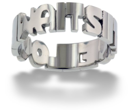 RTLW3 True Love Waits Cut Out Purity Band Stainless Steel Ring size 10-Christian (Love Cut Out Ring)